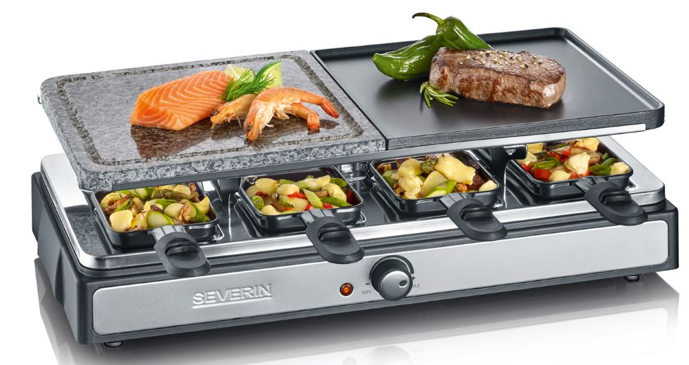 Raclette Grill mit Naturgrillstein