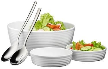 5tlg. Salat-Set aus Porzellan
